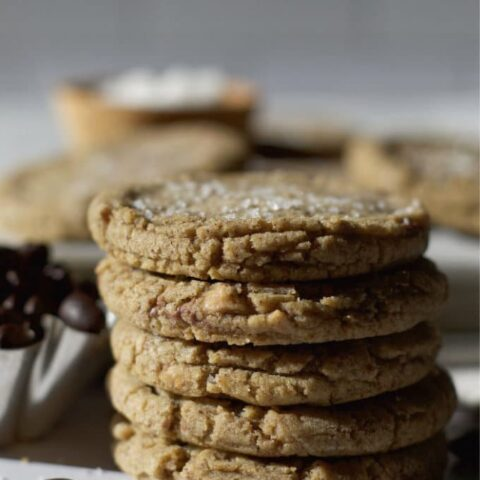 stack of cookies with the sun hitting them