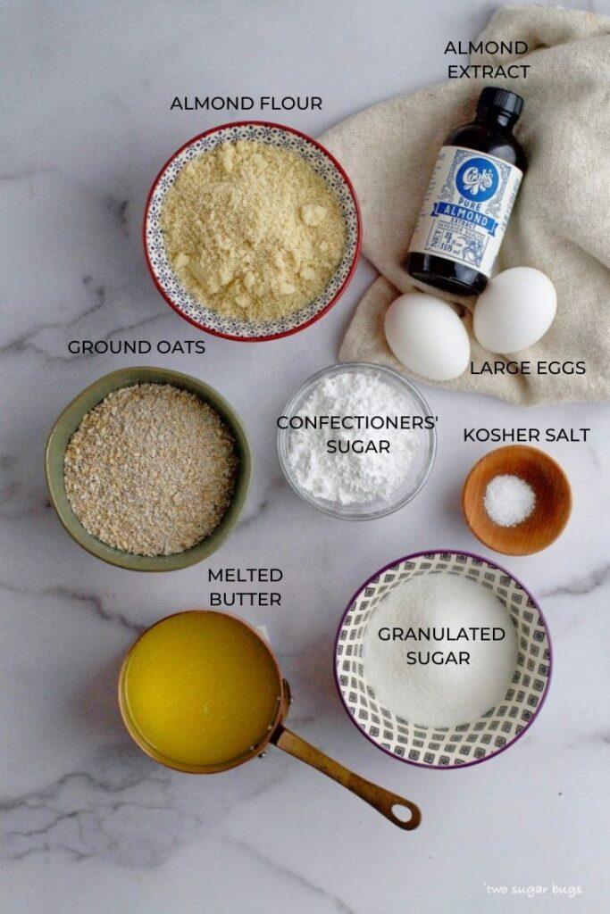 ingredients for frangipane tart recipe