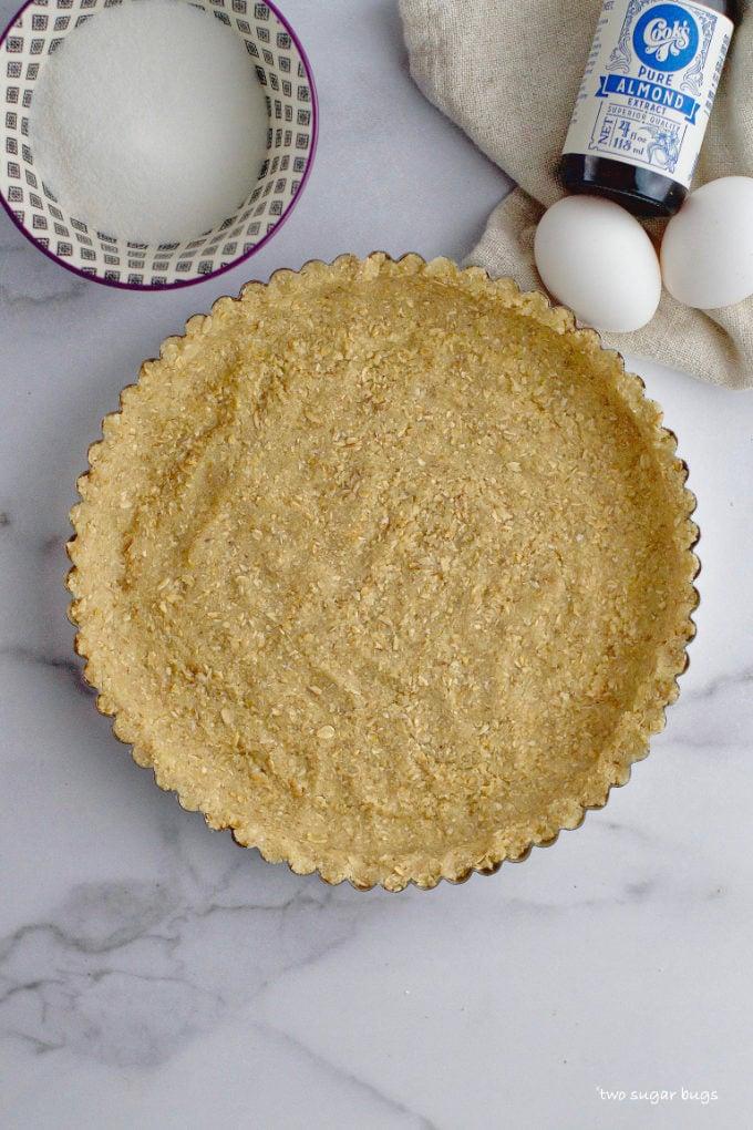 unfilled almond oat tart crust