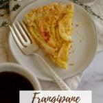 pinterest graphic for frangipane tart