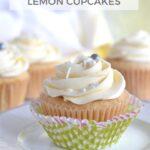 Pinterest image for homemade lemon cupcakes