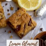 pinterest graphic for lemon almond cookie bars