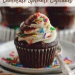 pinterest graphic for small batch chocolate cupcakes