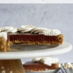 pinterest graphic for malted chocolate ganache tart