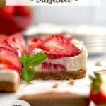 pinterest graphic for no bake mascarpone cheesecake