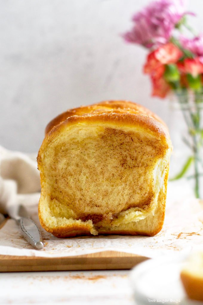 interior look at sweet pull apart bread