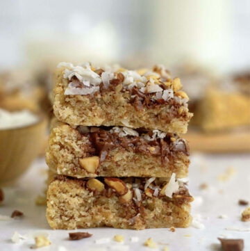 stack of three cookie bars