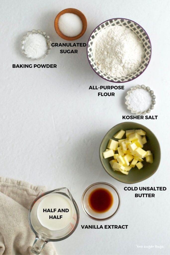 ingredients for vanilla biscuits