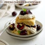 pinterest graphic for cherry shortbread with vanilla biscuits