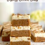 pinterest graphic for biscoff cookie butter bars
