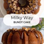 pinterest graphic for Milky Way cake