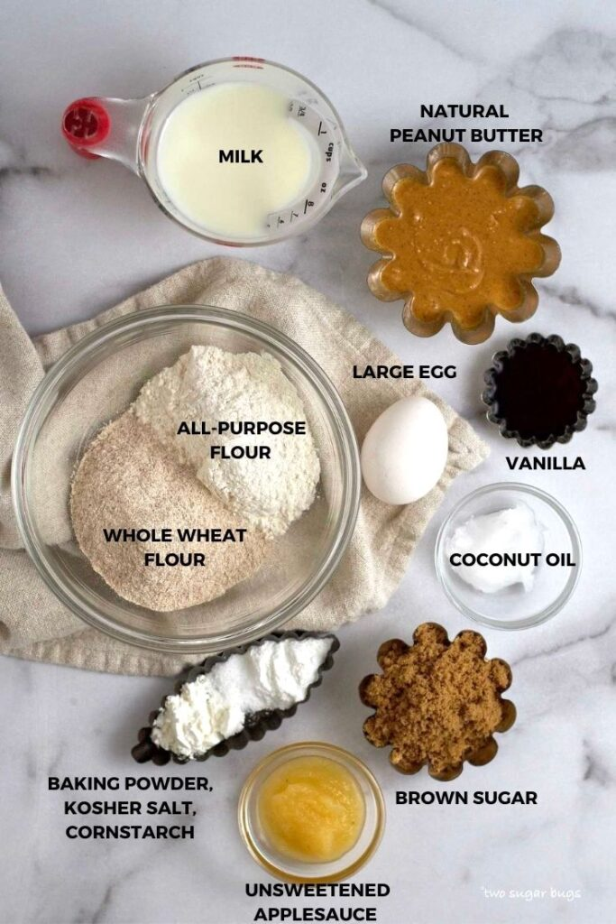 ingredients for peanut butter donuts