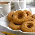pinterest graphic for peanut butter donuts