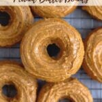 pinterest graphic for baked peanut butter donuts