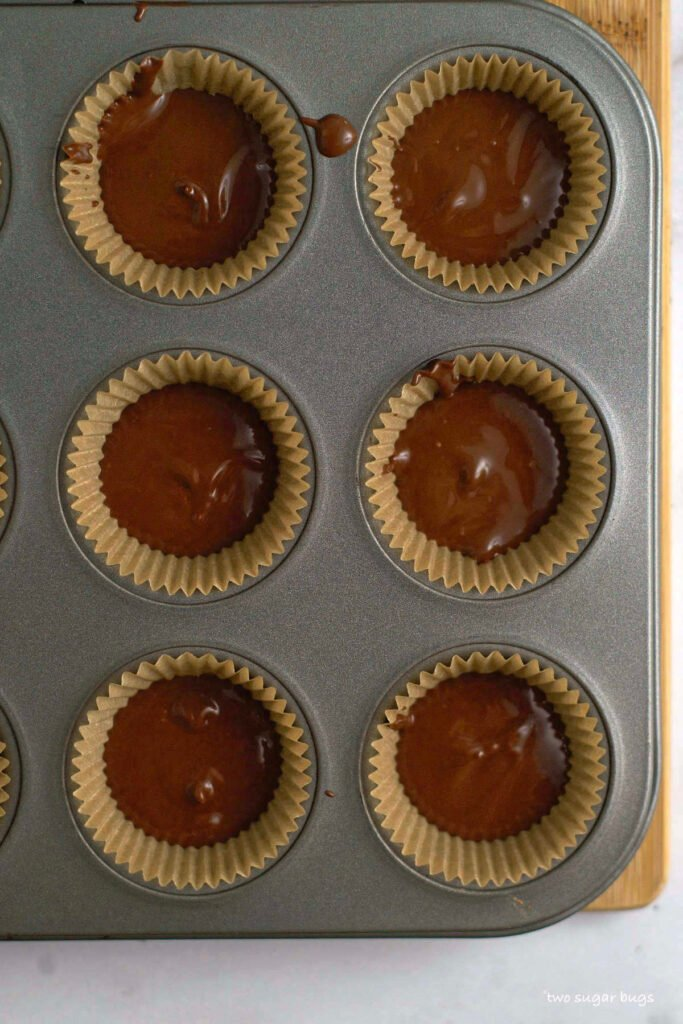 milk chocolate in mini muffin liners