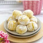 pinterest graphic for soft amaretti cookies