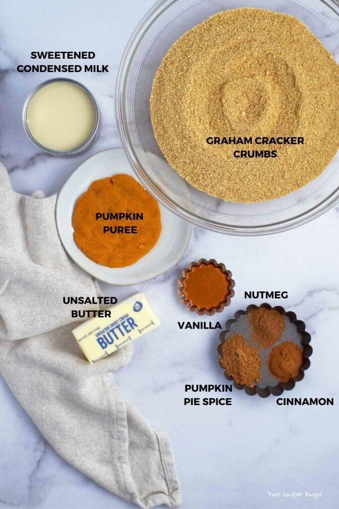 ingredients for no bake pumpkin cookies