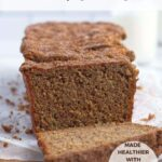 pinterest graphic for snickerdoodle banana bread
