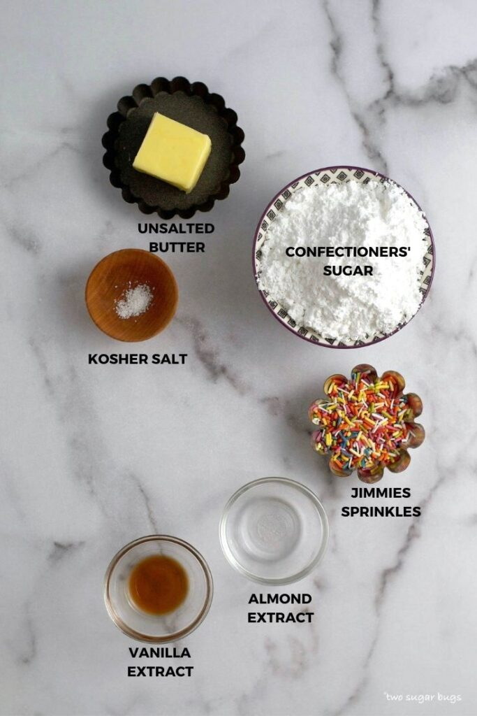 ingredients for funfetti-frosting