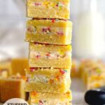 pinterest graphic for sugar cookie sandwiches stuffed with funfetti frosting