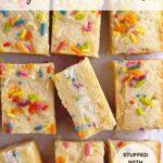 pinterest graphic for funfetti stuffed sugar cookie sandwiches