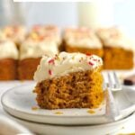 pinterest graphic for pumpkin snack cake